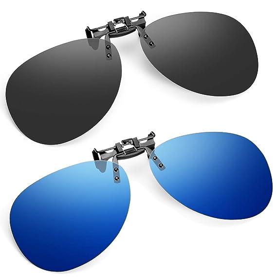 Soxick Gafas de sol con clip, 2 unidades, polarizadas para ...