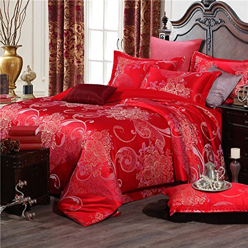 Image of BB.er Continental Jacquard Bedding Sets Pure Cotton Double Soft Breathable Textile Packaged,CH0016J,200×230CM Home and Kitchen