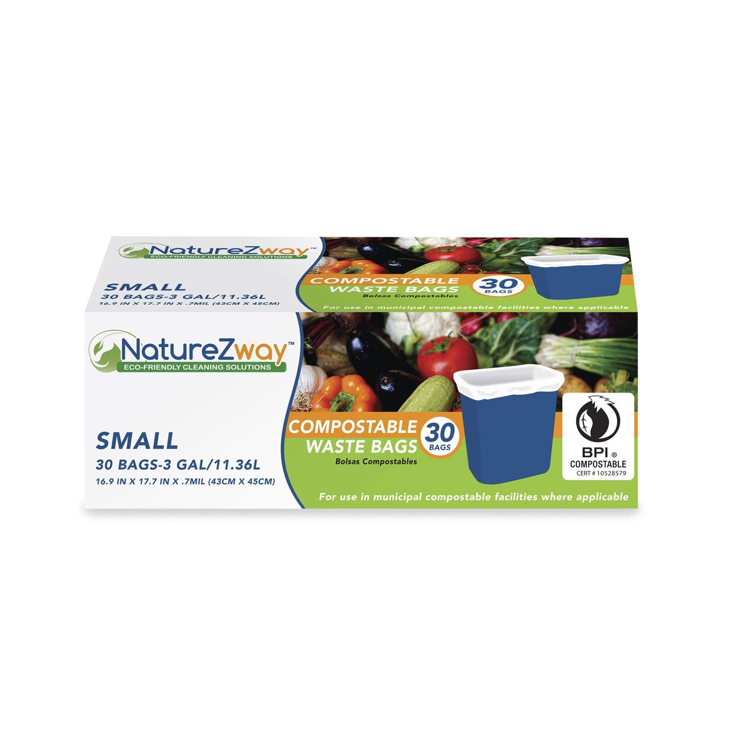 NatureZway Small 3 gal Waste Bags (30 ct)
