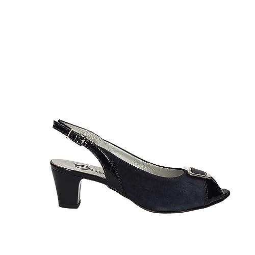 Grace Shoes E7831C Sandales à talons hauts Femmes Noir Noir - Chaussures Sandale Femme