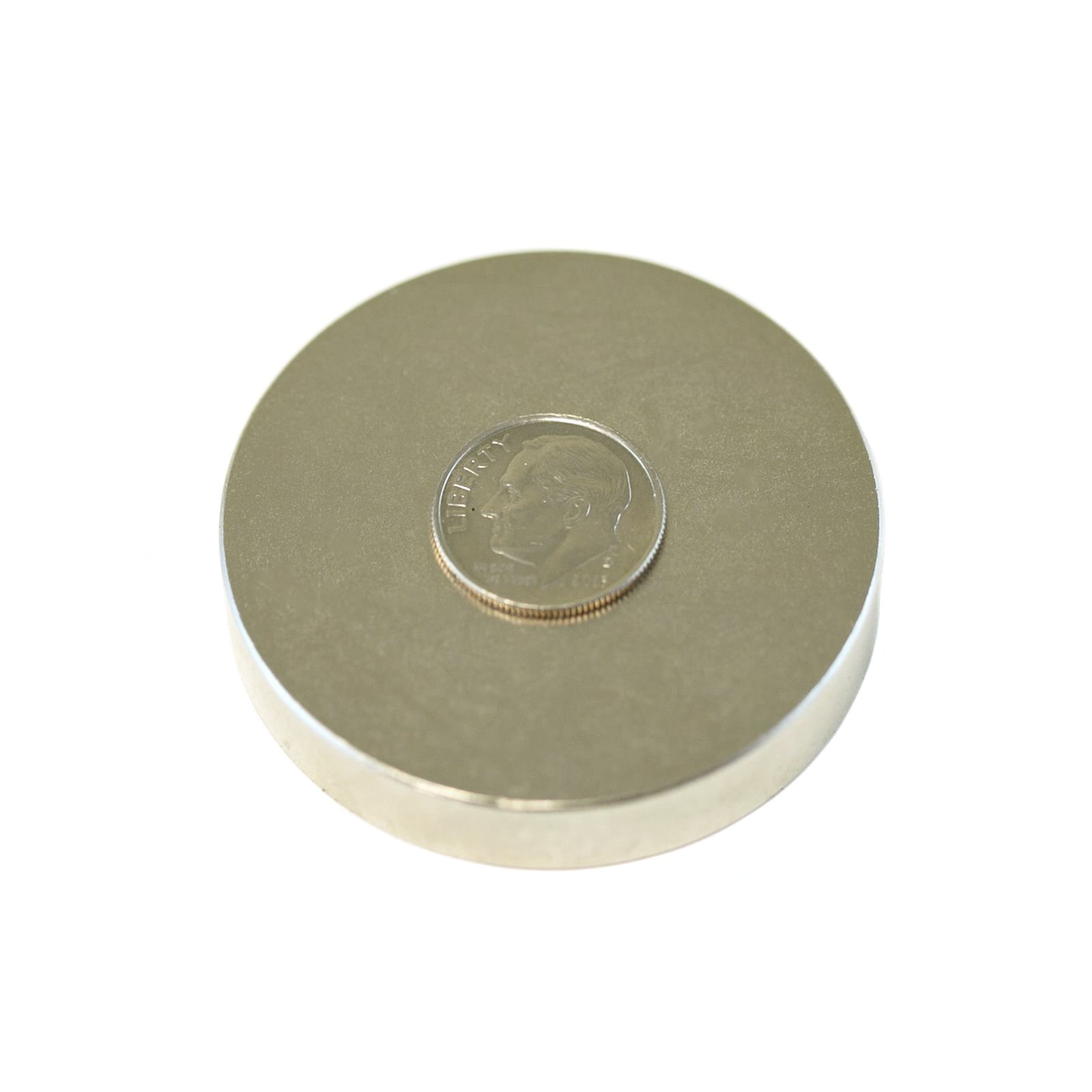 Applied Magnets 1 Piece 2'' x 3/8'' Grade N42 Neodymium Disc Magnet