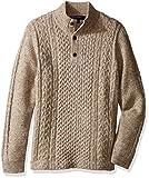 Brooks Brothers Little Boys' Donagal Fisherman Sweater, Cameldonegal, XS