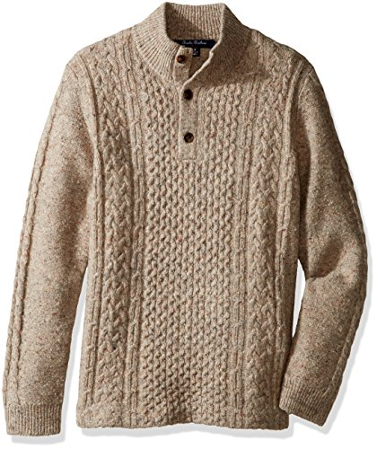 Brooks Brothers Little Boys' Donagal Fisherman Sweater, Cameldonegal, XS by Brooks Brothers