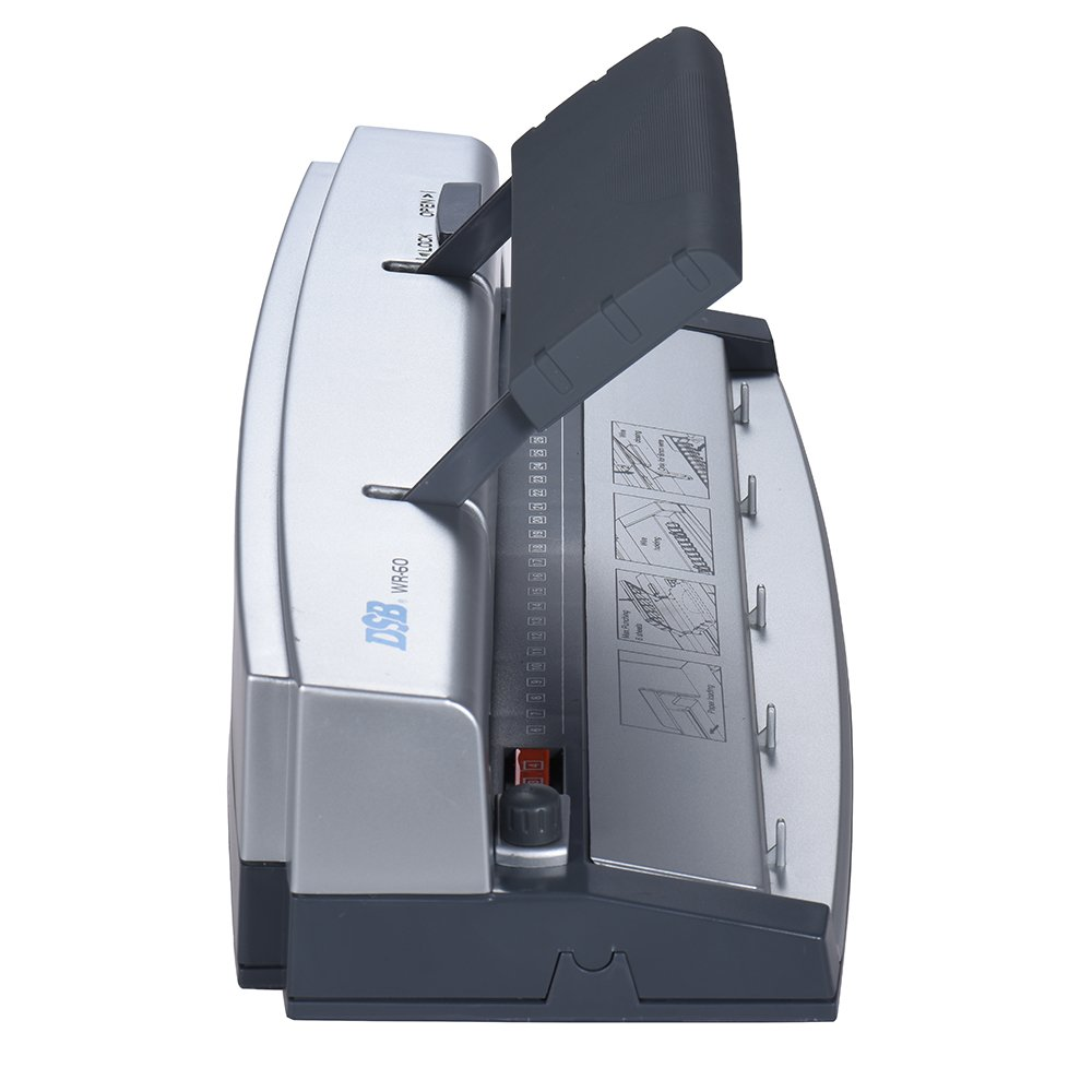 Aibecy DSB WR-60 A4 Paper Puncher + Binder Punch Wire Binding Machine 34/32 Holes, 6 Sheets Punching, 45 Sheets Binding, Support 6.4mm Wire by Aibecy (Image #8)