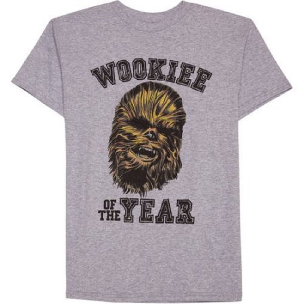 227f5a417 Amazon.com: Star Wars Boys Wookie Of The Year Short Sleeve Graphic T-Shirt  (18): Clothing