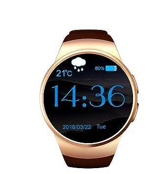 Cara redonda reloj inteligente, a prueba de sudor Smartwatch ...