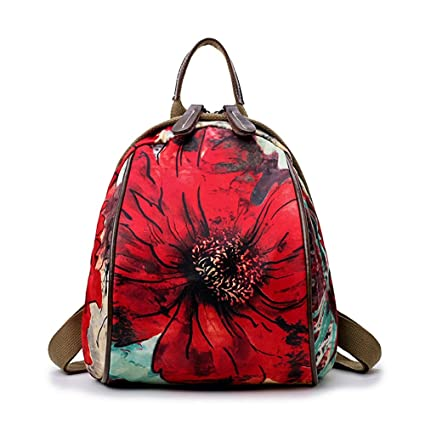 Amazon.com: Zxcvlina Womens Backpack Daypack Waterproof Printing Vintage Oxford Cloth Outdoor Shopping Water-Resistant Big Business College School Bookba: ...
