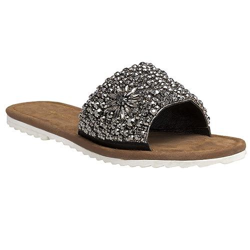 385c54fe348d9 ILSE JACOBSEN Sheila Slip On Sandals Black: Amazon.co.uk: Shoes & Bags