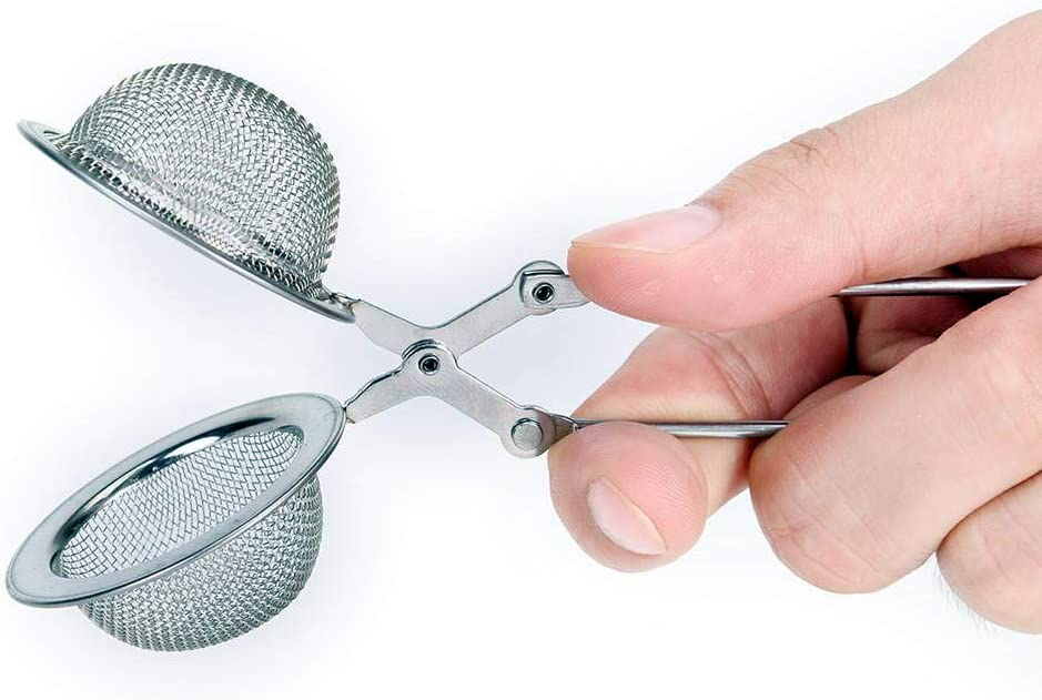 Stainless Steel Mesh Tea Infuser Strainer Steeper Squeeze Style