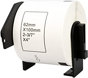 300 DRUCKER ETIKETTEN 62x100mm STANDARD für BROTHER P-touch DK-11202