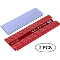 SmartElite M.2 NVME SSD Heatsinks, 2 Pack M.2 NVMe SSD Heatsinks Laptop PC Memory Cooling Fin Aluminum Heatsinks Cooling Fin with Silicone Thermal Pad for PCIe NVMe M.2 Internal SSD (2pcs)