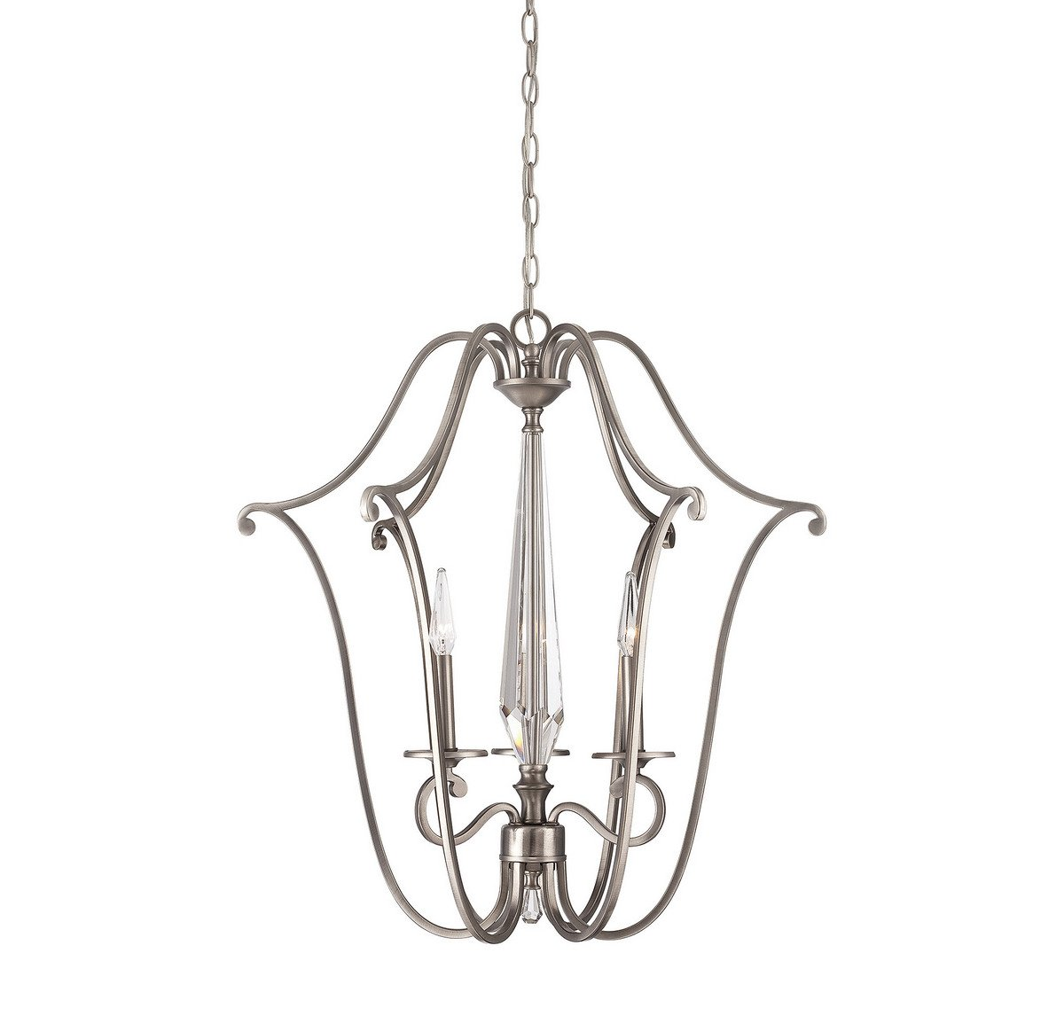 Savoy House 3-382-3-43 Kendall 3 Light Foyer in Vintage Nickel by Savoy House