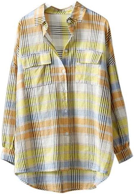 Camisa a cuadros Color Camisa a cuadros Moda Camisa de bolsillo doble fresca Moda Ropa de