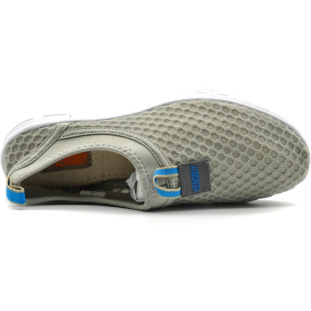 3b302fb9dfae KENSBUY Zapatillas ligeras de mujer con diseño de malla Azul