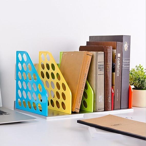 Bandeja de almacenamiento de 4 separadores de colores para revistas, archivadores, archivadores, archivadores, archivadores, archivadores, soporte de ...