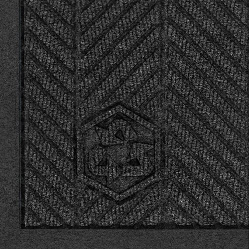[Andersen 2241 Waterhog Fashion ECO Elite PET Polyester Entrance Indoor Floor Mat, SBR Rubber Backing, 6' Length x 4' Width, 3/8