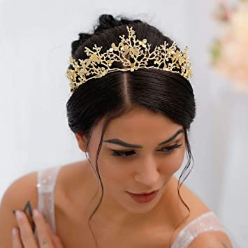 Amazon Com Barode Bride Dragonfly Gold Wedding Crowns And Tiaras
