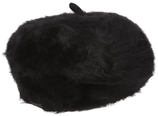 6f2e8070 Calvin Klein Women's Solid Angora Beret, Black, One Size: Amazon.in ...