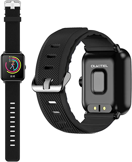 OUKITEL W2 Fitness Smart Watch, Bluetooth Smart Watch Wristwatch with Pedometer Analysis Sleep Monitoring Heart Rate Monitor Tracker and Pedometer ...
