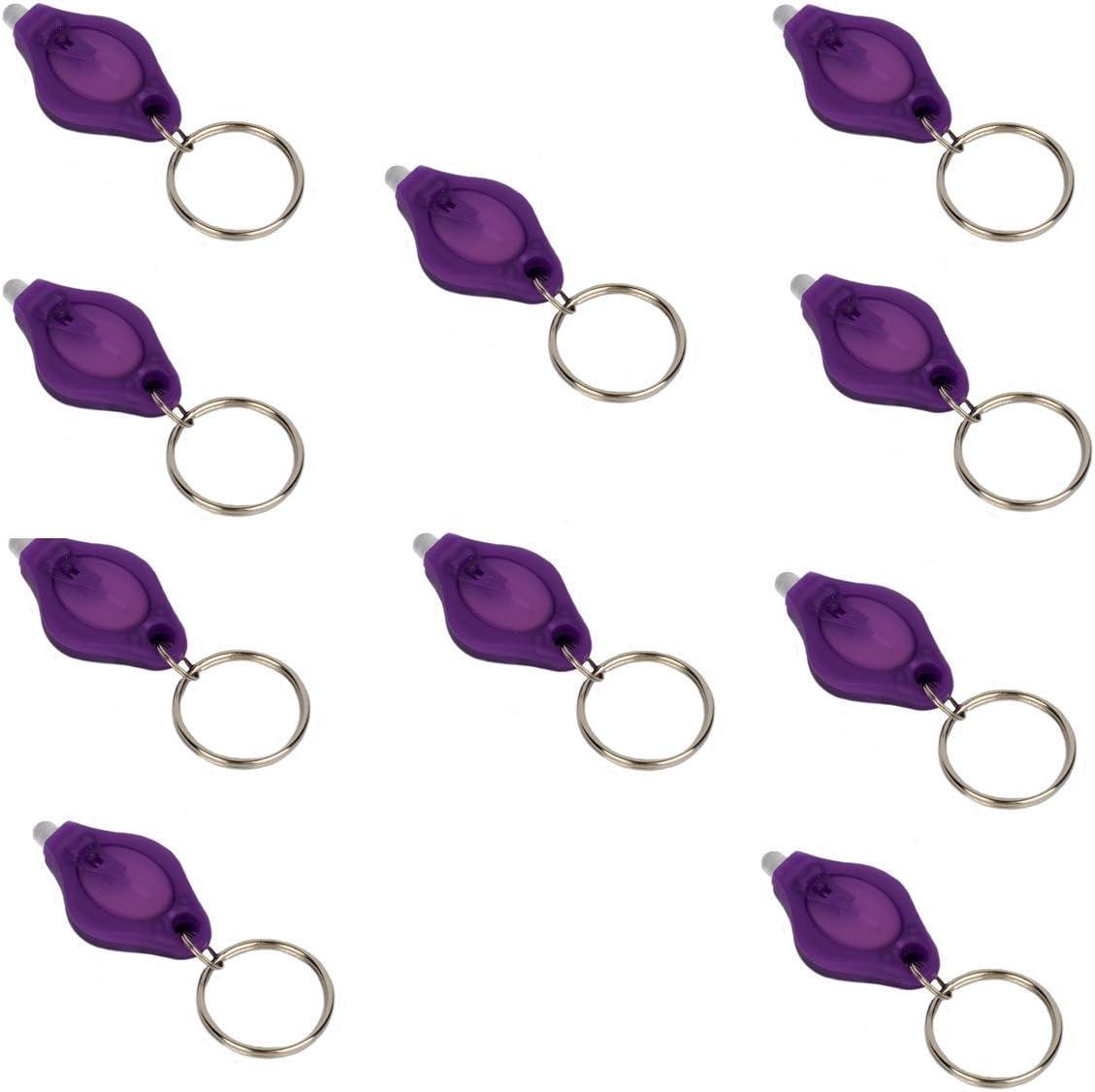 10pcs Keychain UV LED Licht Taschenlampe Ultra Bright Purple Lightweight W3D5