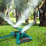 FitMaker Lawn Sprinkler, 360 Degree Rotating Sprinkler Irrigation System with Leak Free Design Durable 3 Arm Sprayer for Garden and Lawn