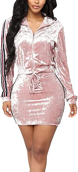 Mujer Ropa Casual Verano Chandal Chaquetas + Faldas Manga Largo ...