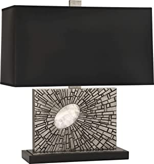 product image for Robert Abbey S416B Goliath - One Light Table Lamp, Shade Options: Black Opaque Parchment/Matte Silver
