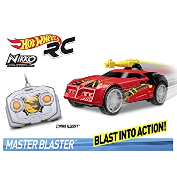 Hot Wheels - Master Blaster R/C, Turbo Turret color rojo 27 MHZ: Amazon.es: Juguetes y juegos