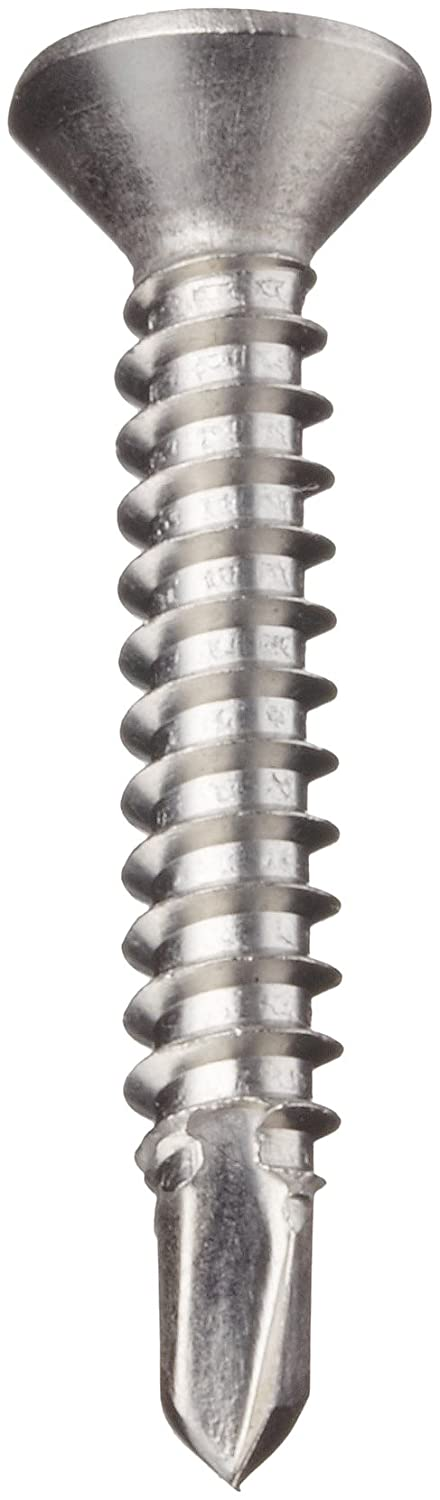 Self-Drilling Point Plain Finish 5//8 Length Pack of 100 Flat Head Phillips Drive #10-16 Threads Stainless Steel Sheet Metal Screw