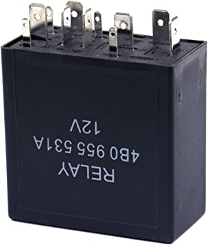 12V 6-Pin Car Vehicle Switch Wiper Intermittent Wiper Relay Part For Volkswagen