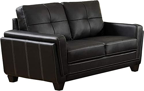 Benjara Benzara Blacksburg Contemporary Style Love Seat