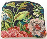 Ladies Rosary Pouch Bag with Floral Fabric Design 4 Inches Long