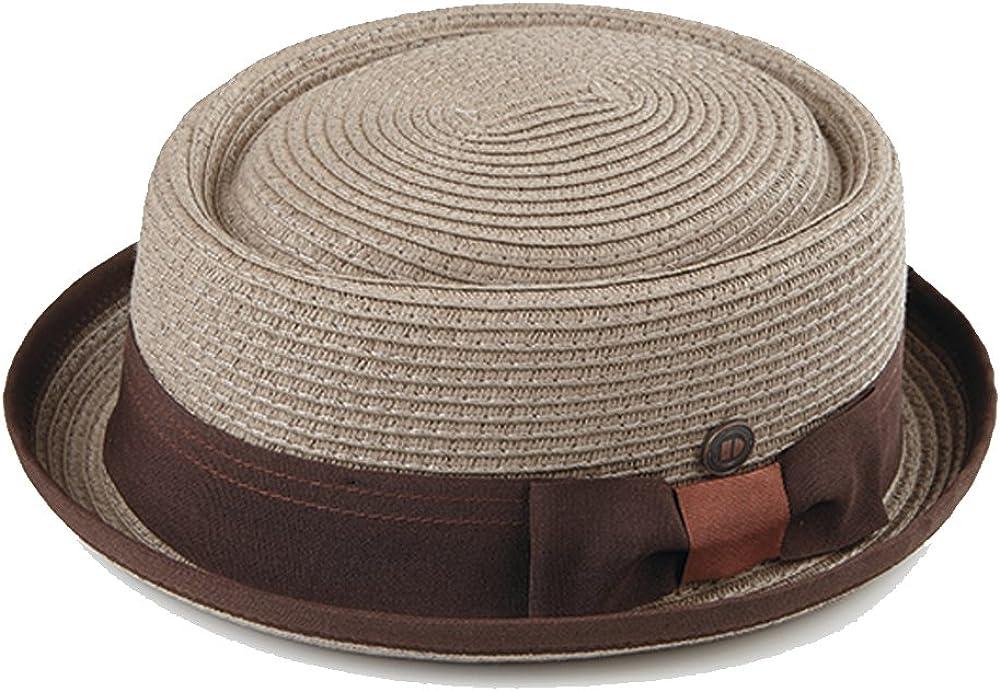 Dasmarca Rico Intrecciato Estate Carta Paglia Telescope Corona Retro Porkpie Hat