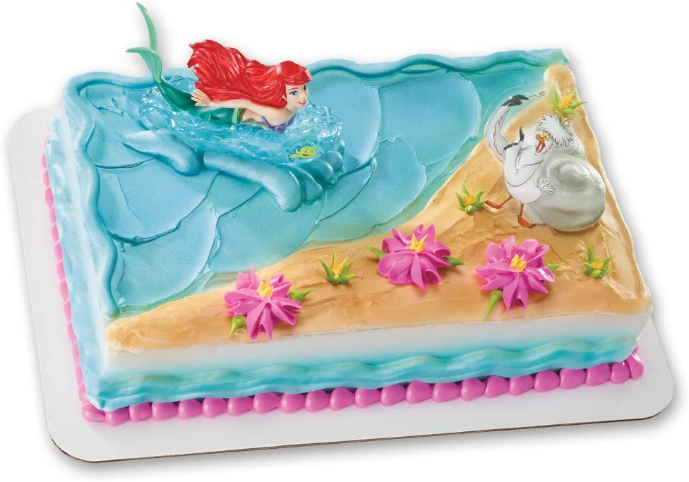 Outstanding Amazon Com Ariel And Scuttle Decoset Cake Topper Toys Games Birthday Cards Printable Nowaargucafe Filternl