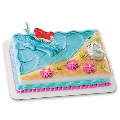 Amazon Com Ariel And Scuttle Decoset Cake Topper Toys Games