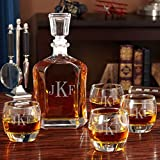 Monogrammed Uptown Personalized Decanter Set (Customizable Product)