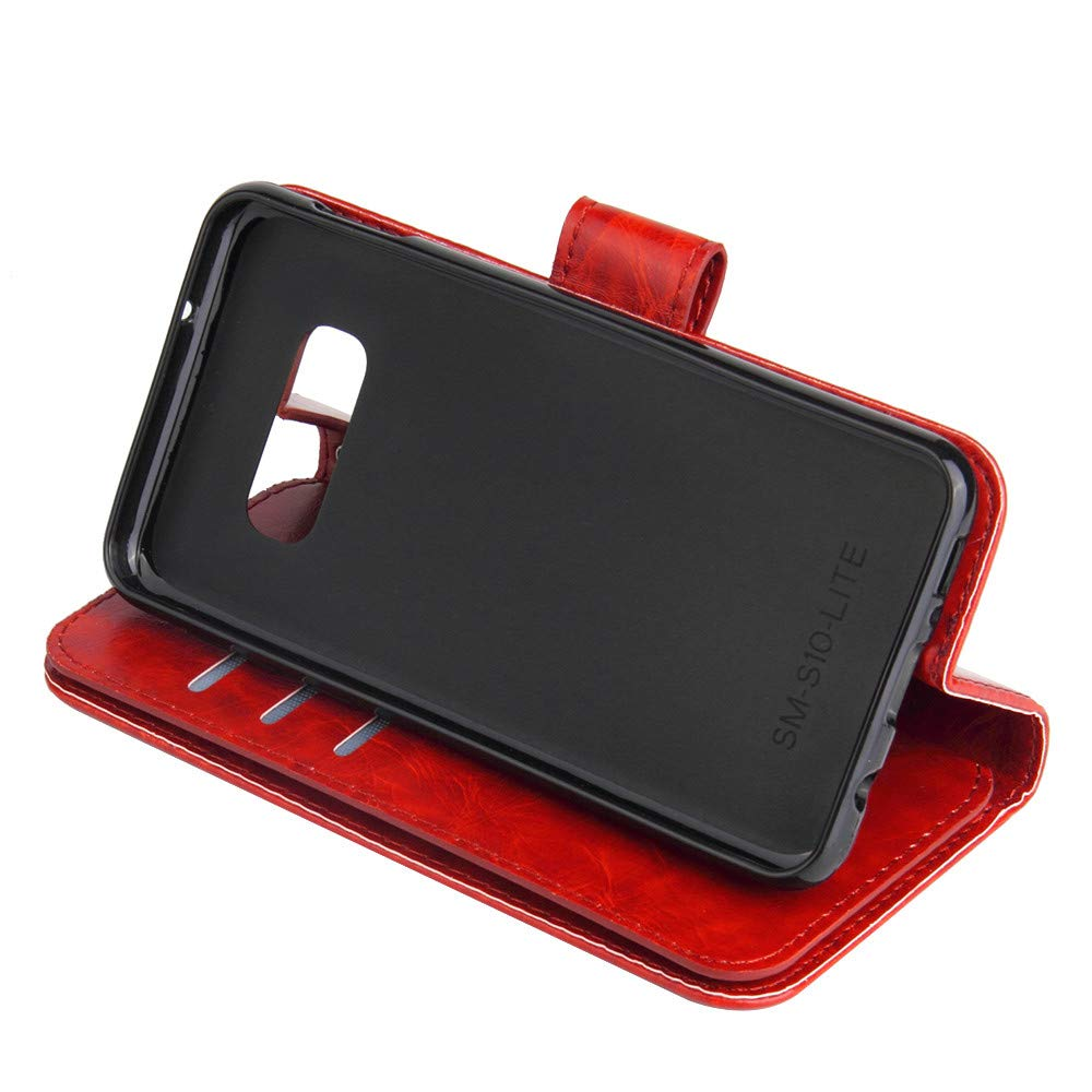 ,Kickstand Feature 6.1 inch LLguz for Samsung Galaxy S10e Flip Leather Wallet Card Stand Case Cover Shockproof,Not Scratches Dust Free