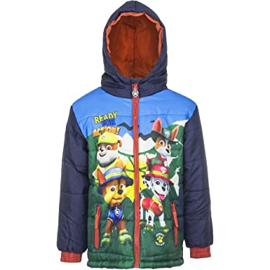 06f70e4534 4680 Fashion4Young Kinder Winter Jacke Jungen Steppjacke Winterjacke Kapuze PAW  PATROL TEAM (dunkelblau, 98