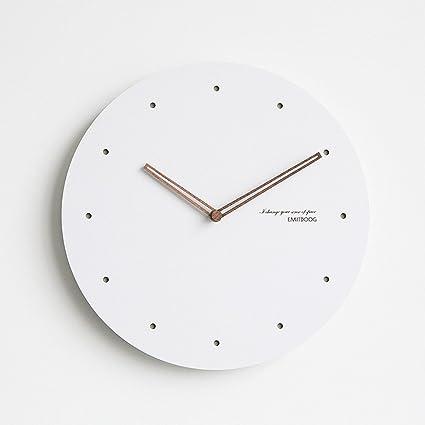 OLILEIO Nórdico moderno minimalista Reloj de pared Reloj de pared grande silencio cabecera Relojes Reloj de