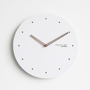 OLILEIO Nórdico Moderno Minimalista Reloj de Pared Reloj de Pared Grande Silencio cabecera Relojes Reloj de sobremesa Creativo Decoracion,E,15pulg.