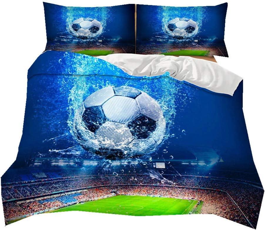 Bettwäsche für Fußball Fans,Reißverschluss,135 x 200 cm Fußballbettwäsche NEU