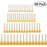 60pcs Assorted Round Paint Foam Sponge Brush Set Painting Tools, Brush Set - Great for Kids Arts and Crafts, Stencils, Painting