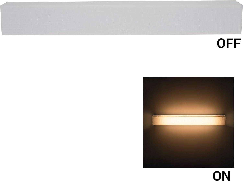 18 RV Vanity Light with Cover 12V LED Satin Nickel