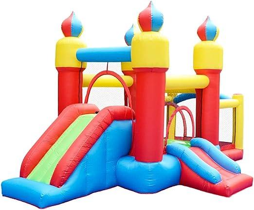 Trampolín Para Niños En Interiores Juguetes Inflables Para Niños Castillo Hinchable Grande Castillo Para Niños En El Jardín Casa Para Niños En Exteriores (Capacity : 43.5*270*225cm , Color : Color) : Amazon.es: Hogar