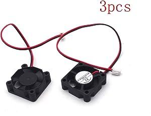 Antrader 3010 12V DC Brushless Cooling Fan 30x30x10mm for DIY 3D Printer Extruder Hotend V6 V5 CPU Arduino Humidifier Pack of 3