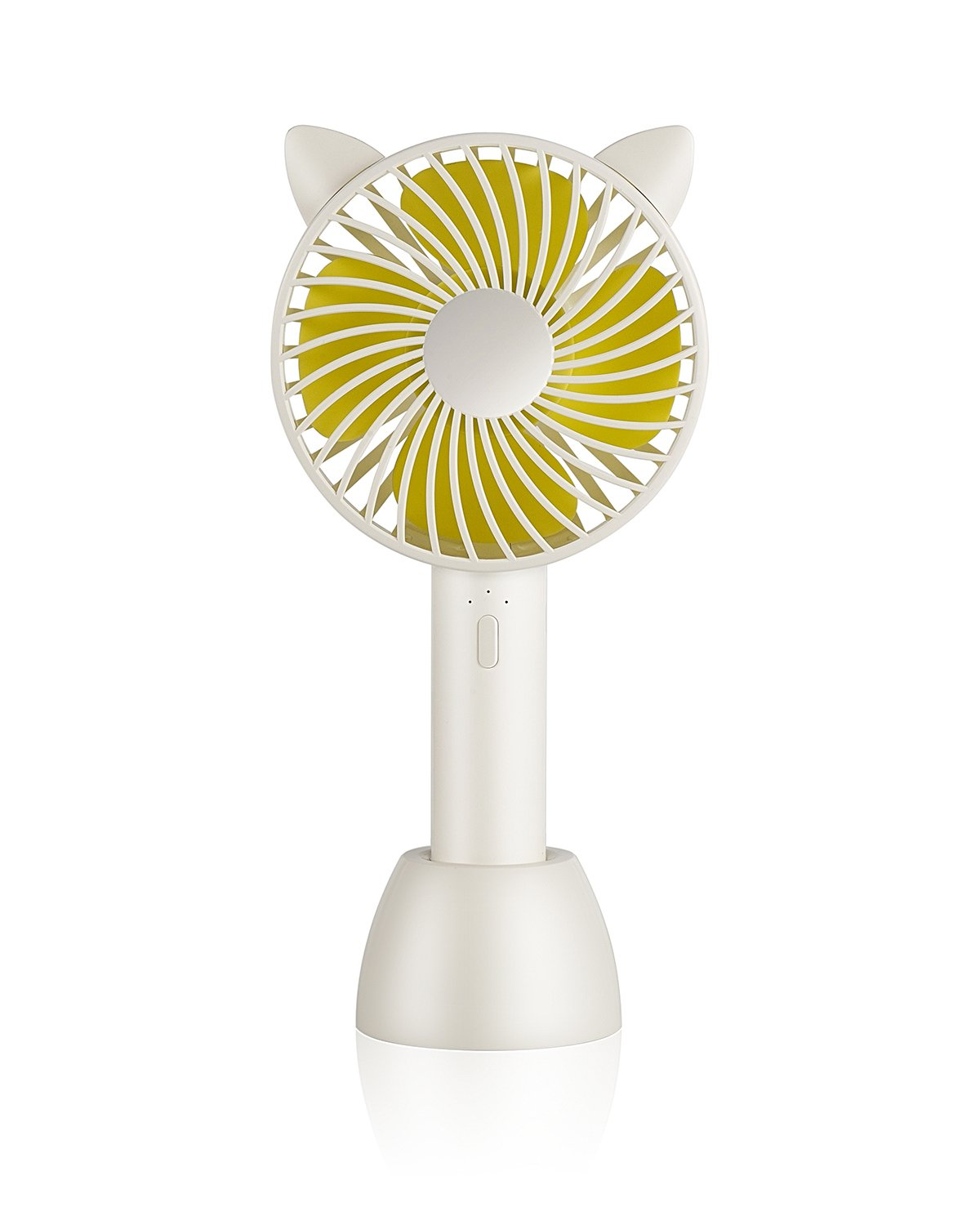 SUPOLOGY Handheld Fan Mini Personal Portable Rechargeable Fan 2 in 1 Table Desktop Fan with 2000mAh Battery USB Powered 3 Speed Cooling Fan for Outdoor Home Office Travel