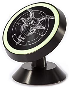 Tinmun Magnetic Phone Car Mount, Pentagram Demon Baphomet Satanic Goat Universal Car Phone Holder for Dashboard