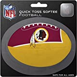 NFL Washington Redskins Kids Quick Toss Softee Football, Red, Small
