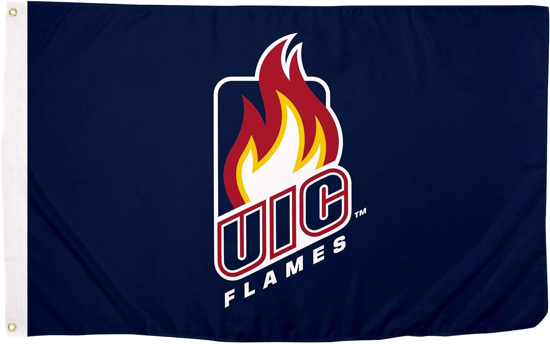 Desert Cactus University of Illinois at Chicago NCAA 100/% Polyester Indoor Outdoor 3 feet x 5 feet Flag