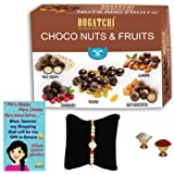 BOGATCHI Complete Rakhi Gift Pack,Chocolate Coated Assorted Nuts,100g + Free 1 Rakhi and Card